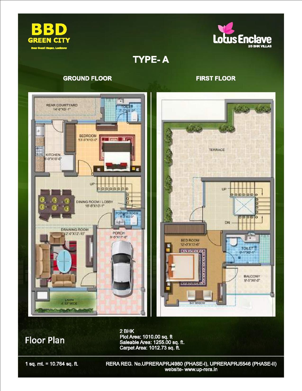 Lotus Enclave Ground Floor Plan