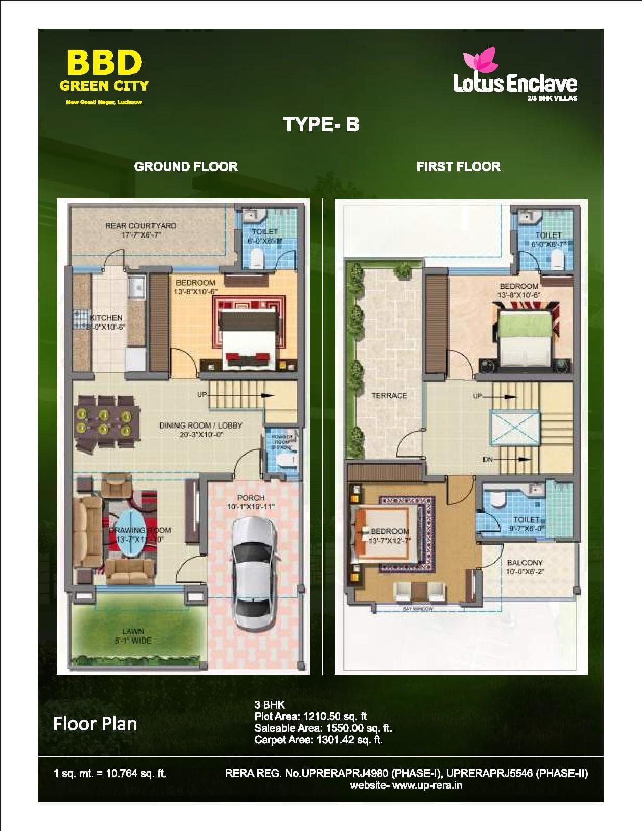 Lotus Enclave Type B Ground Floor First Floor